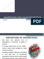 AMSP UNIT I INTRODUCTION TO ADVERTISING AND AD AGENCIES