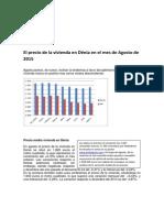 El Precio de La Vivienda en Dénia en El Mes de Agosto de 2015