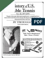 History of U.S. Table Tennis - Vol. IX
