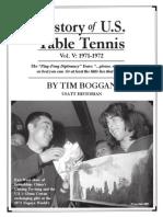 History of U.S. Table Tennis - Vol. V