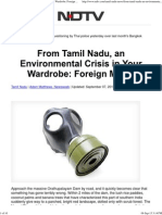 From Tamil Nadu, An Environmental Crisis in Your Wardrobe_ Foreign Media