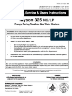 Myson 325 Tankless manual