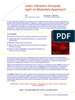 Foundation Vibration Analysis - A Strength of Material Approach