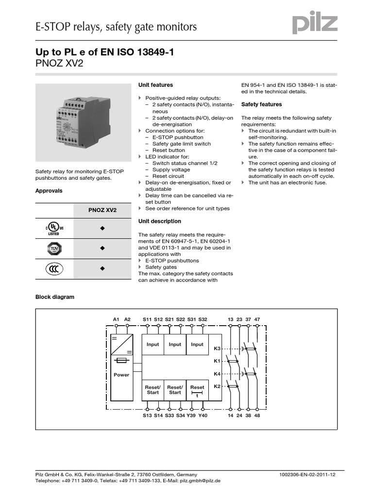 1511559380?v=1 pnoz xv2 data sheet 1002306 en 02 relay fuse (electrical) pilz pnoz s2 wiring diagram at bakdesigns.co
