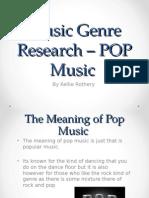 Music Genre Research – POP Music