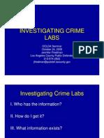 Investigating Crime Labs OCDLA 2009-1 Only]