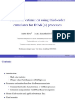 Parameter estimation using third-order cumulants for INAR(p) processes