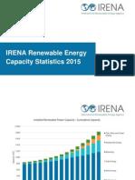 energy Capacity Statistics 2015