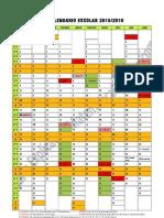 Calendário Escolar 2015-2016