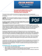 Engine Installation Guidelines (Gasoline Engine Installation Guide)
