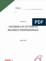 Facsimile Lettera Incarico Professionale