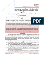 A Threshold fuzzy entropy based feature selection method applied in various benchmark datasets using Ant-miner algorithm