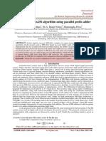 High Speed radix256 algorithm using parallel prefix adder