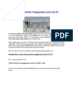 Tutorial Realistic Render Menggunakan AutoCAD 3D.docx