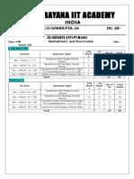28-12-14 Sr.iit-z (Iz) Co-spark Jee Adv Pta-16 (2011 p1) q'Paper