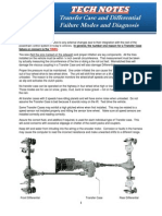 Transfer Case and Differential Failure Modes and Diagnosis ()