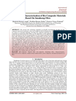 Fabrication & Characterization of Bio Composite Materials Based On Sunnhemp Fibre
