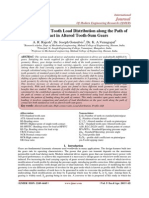 Investigation of Tooth Load Distribution along the Path of Contact in Altered Tooth-Sum Gears