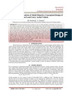 Computational Analysis of Multi Objective Conceptual Design of an Load Carry Aerial Vehicle