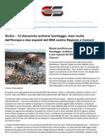 RIFIUTI 2015 MAXIMULTE DA EUROPA PER DISCARICHE FUORILEGGE E MANCATE BONIFICHE