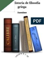 Breve Historia de Filosofia Griega
