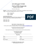 2015 Two-Man Entry Form