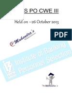 Ibps Po 2013 Paper