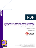 The Protection and Operational Benefits of Agentless Security in Virtual Environments - Osterman Research White Paper