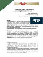 Origem e Caracteristicas Das Organizacoes Internacionais