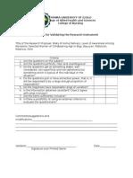 Validation Checklist