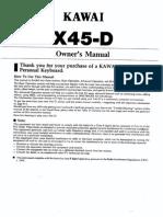 Manual de usuario X45-D