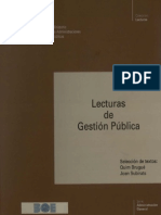 LECTURAS DE GESTIÓN PÚBLICA