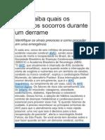 Artigo sobre AVC