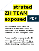 Frustrated ZH Team Fans Exposed Manipulating