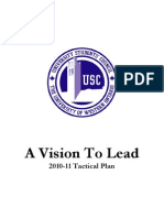 USC DOCUMENT - Tactical Plan - 2010-11 - For Council Approval