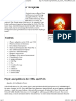 History of Nuclear Weapons - Encyclopedia