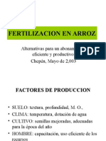 Arroz - Fertilización