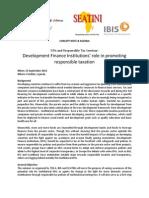 2015 | Development Finance Institutions & Tax seminar | Concept Note & Agenda