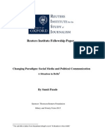 Changing Paradigm - Social Media and Political Communication - A Situation in Delhi