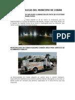 Obras Públicas Del Municipio de Cobán