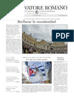 L ´OSSERVATORE ROMANO - 18 Septiembre 2015