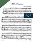 Handel Suite HWV 434 Menuet in G Minor, Arr.