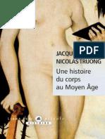 Une Histoire Du Corps Au Moyen-Age