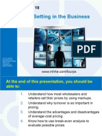 Chapter 18 - Price Setting in the Business World