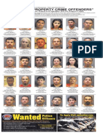 Most Wanted Property Crime Offenders, Sept. 2015