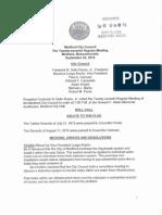 Medford City Council Agenda 9-22-2015