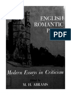 M  H  Abrams--English Romantic Poets Modern Essays in