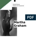 Martha Graham Summer Homework 2015