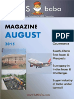 August_Magazine 2015 - IASbaba