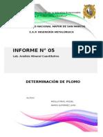 Determinacion Del Plomo